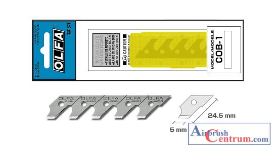 Čepelky do vyřezávacího kružítka COB-1