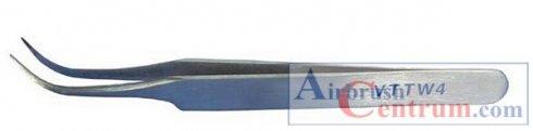 Pinzeta zahnutá špičatá VTTW11